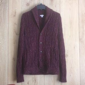Burgundy/white specked Men's semi casual sweater